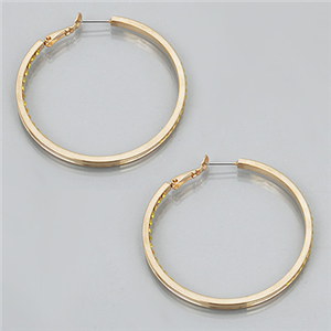 Rhinestone lined loop earrings
