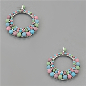Colored beaded earings