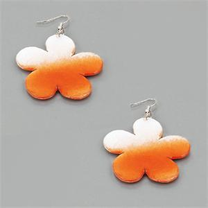 Sea shell flower drop earrings